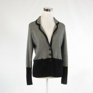 Anthropologie black cardigan sweater S